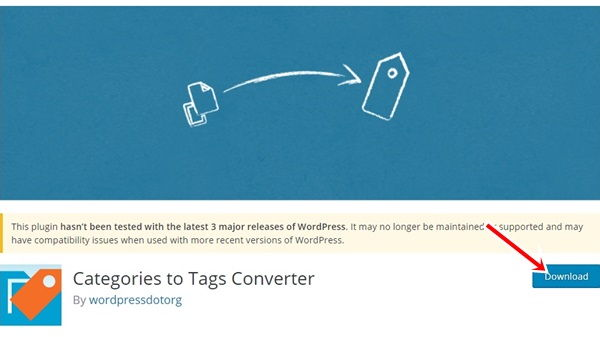 Plugin Categories to Tags Converter