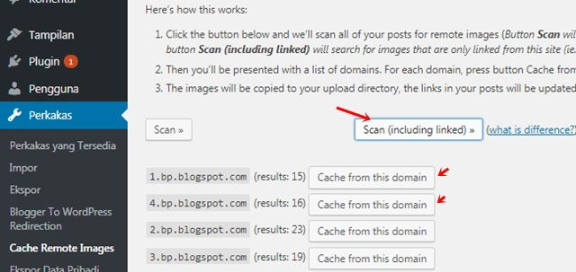 Scan Cache Images